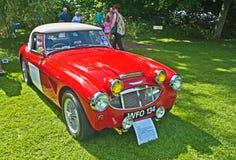 1959 Austin Healey 3000 teken 1 bij Kasteel Brodie Royalty-vrije Stock Fotografie