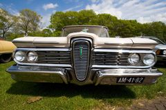 1959 Edsel Ranger classic car. ROSMALEN, THE NETHERLANDS - MAY 16: 1959 Edsel Ranger classic car on the Rock Around the Jukebox Open Air event on May 16, 2010 in Stock Photography