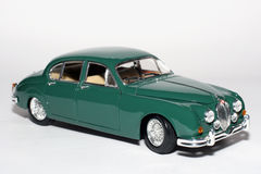 1959 Jaguar Mark 2 metal scale toy car. Picture of a 1959 Jaguar Mark 2. Detailed scale model from my brothers toy collection Royalty Free Stock Photos