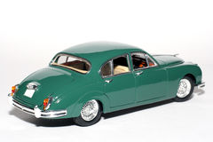 1959 Jaguar Mark 2 metal scale toy car #2. Picture of a 1959 Jaguar Mark 2. Detailed scale model from my brothers toy collection Royalty Free Stock Images