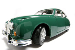 1959 Jaguar Mark 2 metal scale toy car fisheye #2. Picture of a 1959 Jaguar Mark 2. Taken with a fisheye lens as a highkey picture. Very hard to flash as the Stock Photography
