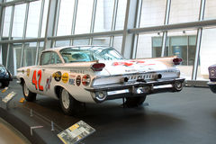 1959 Lee Petty Oldsmobile NASCAR Stock Car. Lee Petty's #42 Super 88 Oldsmobile on display at the NASCAR Hall of Fame Museum in Charlotte, North Carolina Royalty Free Stock Photography