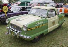 1959 Nash Metropolitan Checker Taxi Cab Stock Photography
