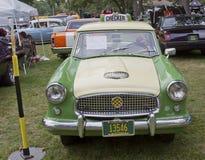 1959 Nash Metropolitan Checker Taxi Cab Front Stock Photo