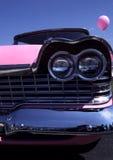1959 rosafarbene Plymouth Wut-Frontseite   Stockfoto