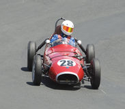 1960年汽车赛跑退伍军人的elva f3 库存图片