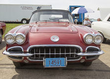 1960 Chevy Corvette Convertible Front View Royalty Free Stock Photography