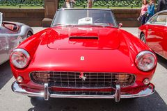 1960 Ferrari 250 GT Cabriolet Series II. SAN FRANCISCO - APRIL 29: A 1960 Ferrari 250 GT Cabriolet Series II is on display during the 2012 California Mille show Stock Photo