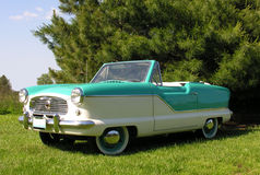 1960 Nash convertible. 1960 Nash Metropolitan convertible with two tone paint Royalty Free Stock Image