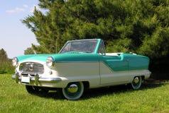 1960 Nash convertible. 1960 Nash Metropolitan convertible with two tone paint royalty free stock image