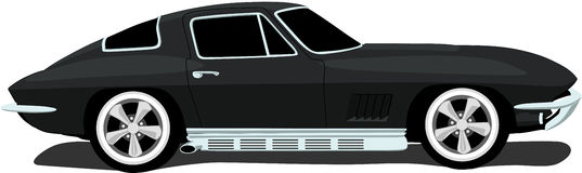 1960's American Corvette. Illustration of a 1960's American Corvette sports car. See my portfolio for more automotive images vector illustration