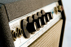 1960's Amplifier. Vintage Vacuum Tube Amplifier, isolated stock photo