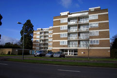 1960's Apartments. In suburbs of English city Stock Photography