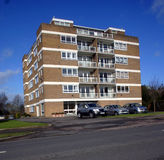 1960's Apartments. Block of 1960's Apartments in a English city Stock Photos