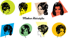 1960s Hairstyles Stock Images