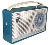 1960s radio (2). Groovy set from the Swinging Sixties Stock Images