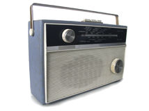 1960s radio. Focus on near side on this funky retro radio Royalty Free Stock Photo