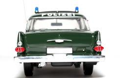 1961 Duitse de schaalauto van de Politie van Opel Kapitän backview Stock Foto's