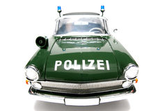 1961 German Opel Kapitän Police scale car fisheye frontview Stock Images