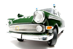 1961 German Opel Kapitän Police scale car fisheye #4 royalty free stock photography