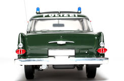 1961 German Opel Kapitän Police scale car backview Stock Photos