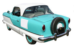 1961 Metropolitan Nash. Rear view of a 1961 Metropolitan Nash, blue and white Stock Photo