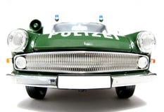 1961 policía alemana de Opel Kapitän escala el frontview #2 del fisheye del coche Imagen de archivo