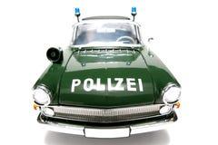 1961 policía alemana de Opel Kapitän escala el frontview del fisheye del coche Imagenes de archivo