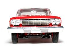 1962年belair汽车薛佛列汽车frontview金属缩放比例玩具 库存图片