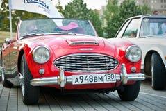 1962 3000奥斯汀healey ii mk红色 库存照片