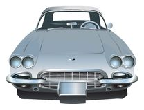 1962 American sports car. American made sports car from 1962 colored in bluish grey Stock Image