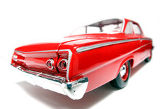 1962 Chevrolet Belair metal scale toy car fisheye #7. Picture of a classic 1962 Chevrolet Belair US toy car. Taken with a fisheye lens as a highkey picture. Very Royalty Free Stock Images