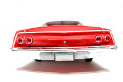 1962 Chevrolet Belair Metal Scale Toy Car Fisheye Backview 2 Stock Photo
