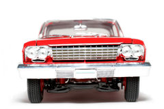 1962 Chevrolet Belair Metal Scale Toy Car Frontview Stock Image