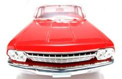 1962 het stuk speelgoed van de het metaalschaal van Chevrolet Belair auto fisheye frontview Stock Foto