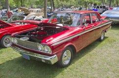 1963红色福特Fairlane 免版税库存图片