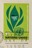1964个国家邮票团结的葡萄酒 免版税库存图片