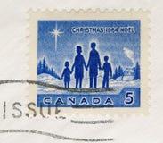 1964年加拿大圣诞节邮票葡萄酒 免版税图库摄影