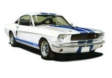 1965年福特GT350野马小轿车 向量例证