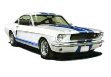 1965 Ford GT350 Mustang Coupe. Illustration of a 1965 GT350 Ford Mustang Coupe Stock Photo