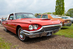 1965 Ford Thunderbird. ROSMALEN, THE NETHERLANDS - MAY 16: Classic 1965 Ford Thunderbird driving around at the Rock Around the Jukebox Open Air event on May 16 Stock Photo
