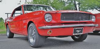 1965 mustang. A red 1965 Ford Mustang Stock Photography