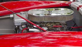 1965 Red White Ford AC Cobra Engine Stock Image