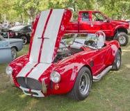 1965 Rode Witte AC van de Doorwaadbare plaats Cobra Royalty-vrije Stock Afbeeldingen
