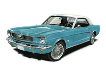 1966 Ford Mustang Royalty Free Stock Image