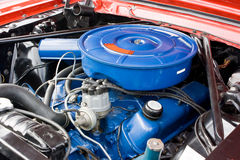 1966 Ford Mustang 8 Cylinder Engine Stock Photo