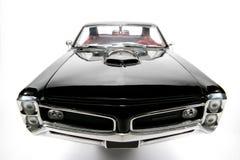 1966 het stuk speelgoed van de het metaalschaal van Pontiac GTO auto fisheye frontview Stock Foto