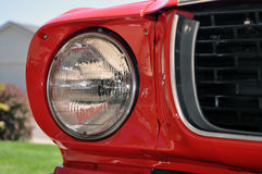 1966 Mustang. 1966 ford mustang classic car right front headlight royalty free stock photos