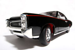 1966 Pontiac GTO metal scale toy car fisheye Royalty Free Stock Image
