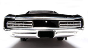 1966 Pontiac GTO metal scale toy car fisheye backview Stock Photos